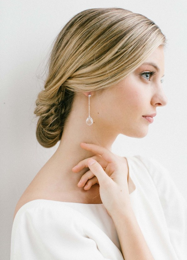 crystal drop earring, crystal bridal earrings, crystal wedding earrings