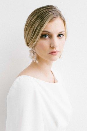 wedding jewellery, bridal jewellery, floral bridal earrings