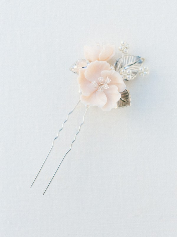 flower hair pin, bridal hair pin, wedding hair pin