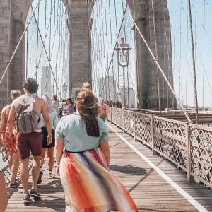 The most instagrammable places in New York. Walk the Brooklyn Bridge from Brooklyn to Manhattan for the best New York City views