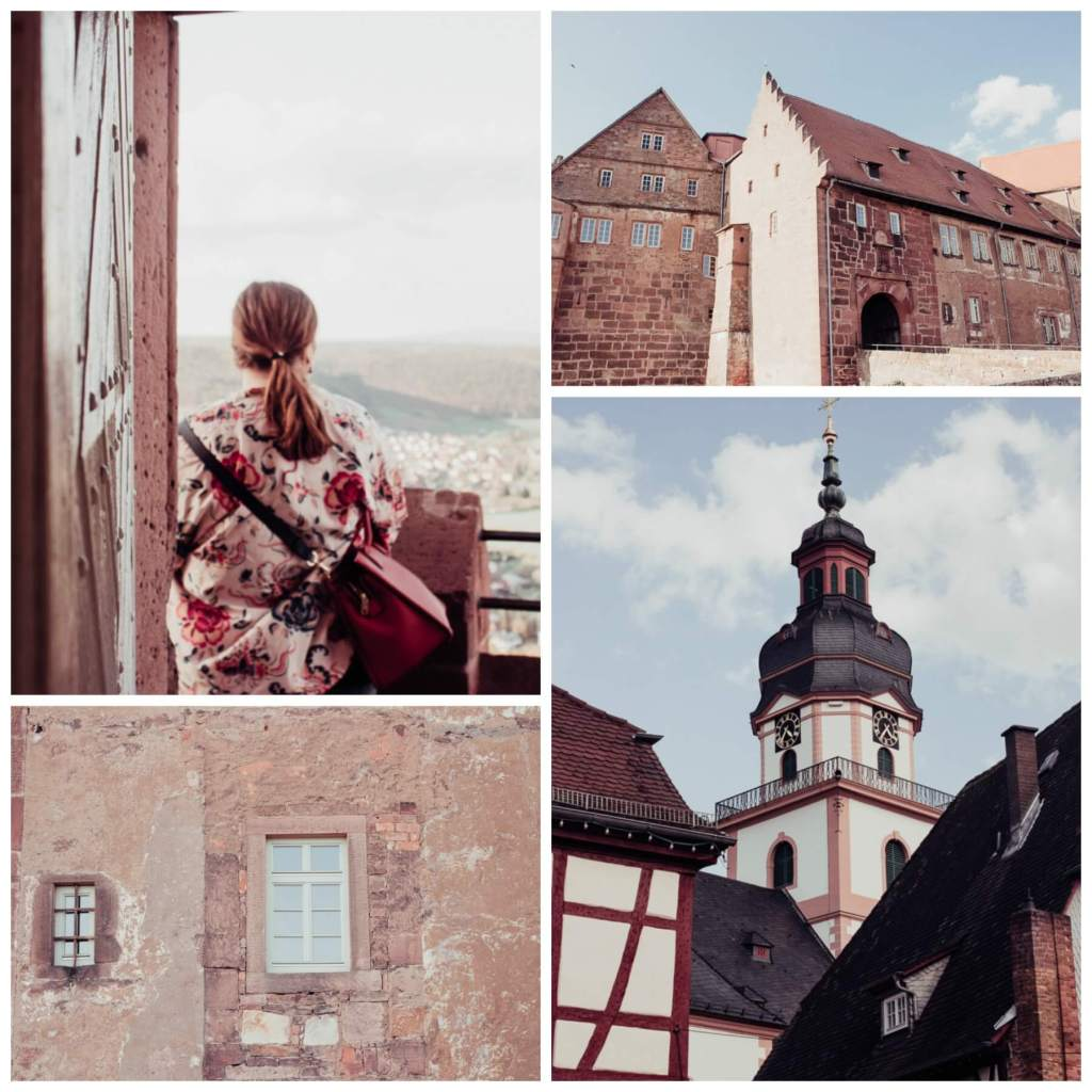 Multiple images of Breuberg Castle in Germany