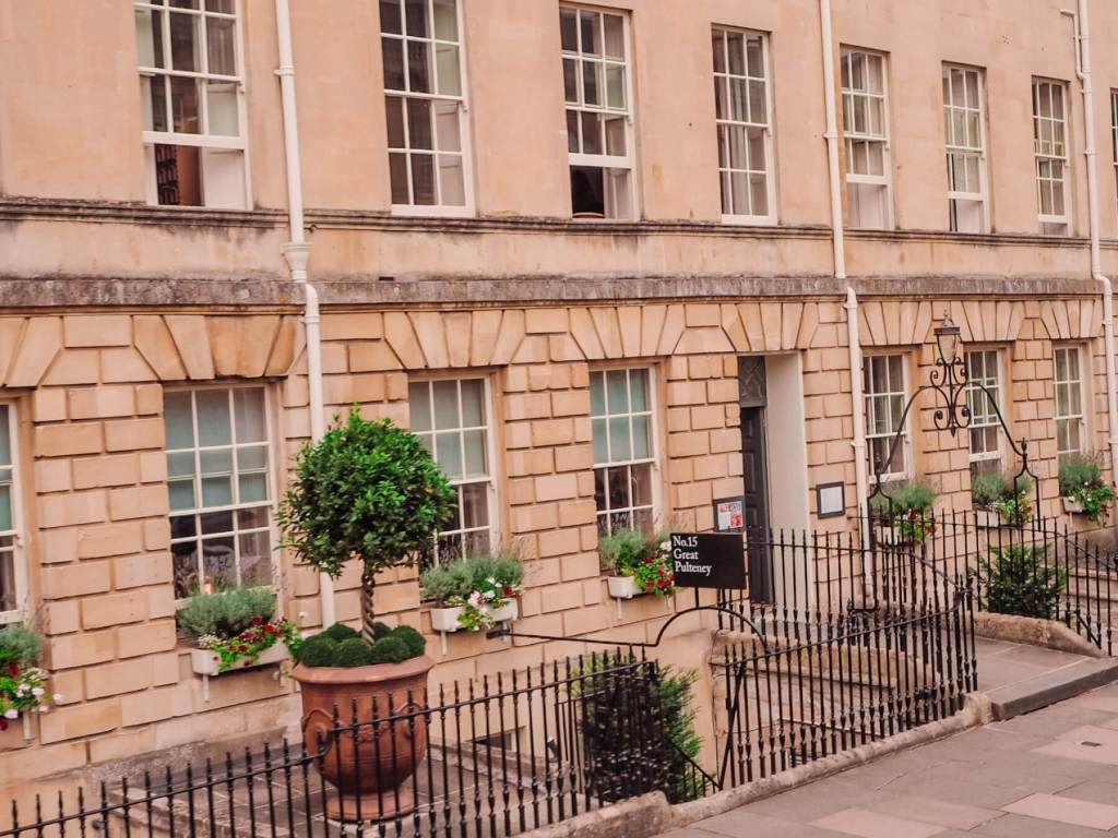 Exterior of No.15 Great Pulteney in Bath UK