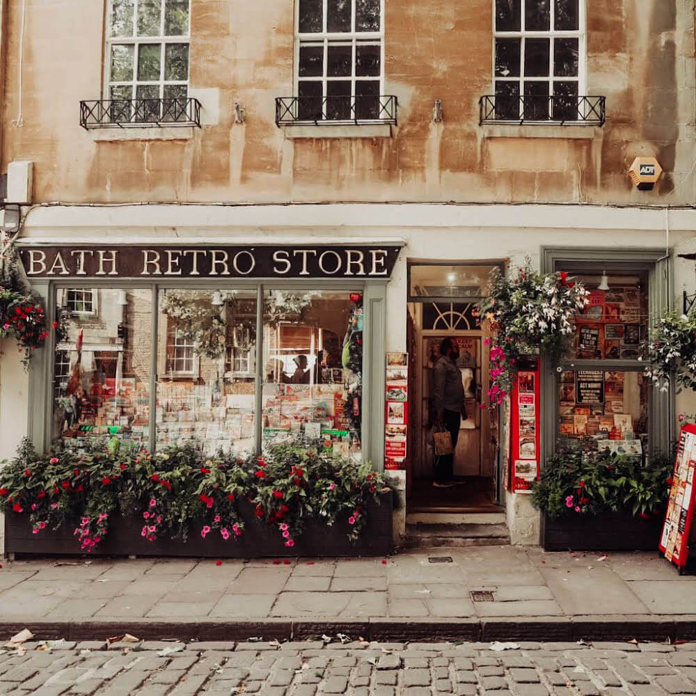exterior of Bath Retro Store