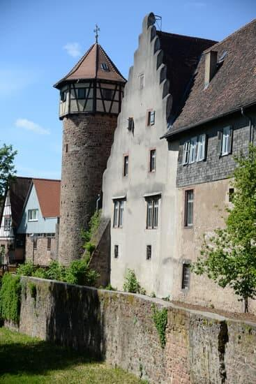 The outer city walls of Michelstadt Germany
