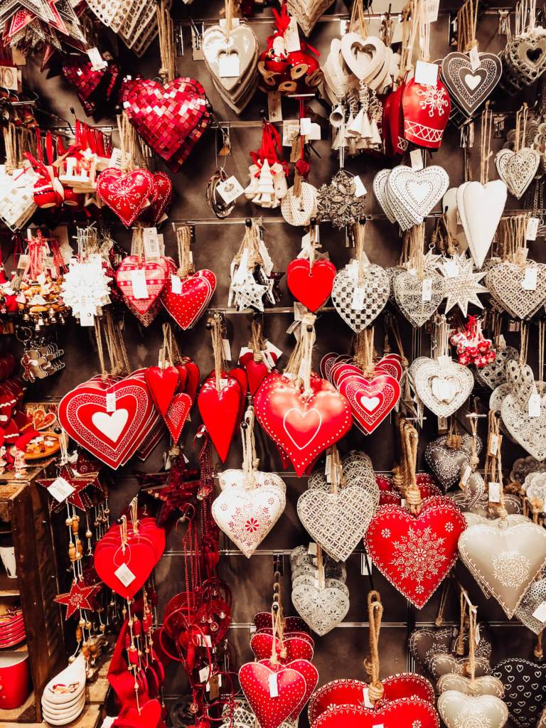 Hearts for sale at the European Christmas markets.