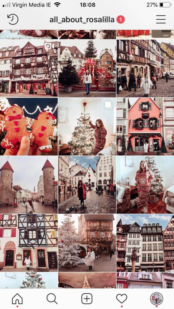 Screenshot image of All About RosaLilla's Instagram page