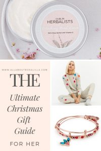 The ultimate Christmas Gift Guide for her. I have been busy searching the internet for my personal Christmas wish list to bring you the ultimate Christmas gift guide for her. Hopefully this list will inspire you and there is something here for the ladies in your life. Read more on www.allaboutrosalilla.com #christmasgiftguide #giftsforher #christmasgiftsforher #christmasgiftideas