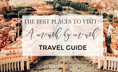 A comprehensive month by month travel guide on the best places to visit based on calendar month. Read more on www.allaboutrosalilla.com #travel #monthbymonthtravelguide #whentovisit #travelguide #wheretovisit