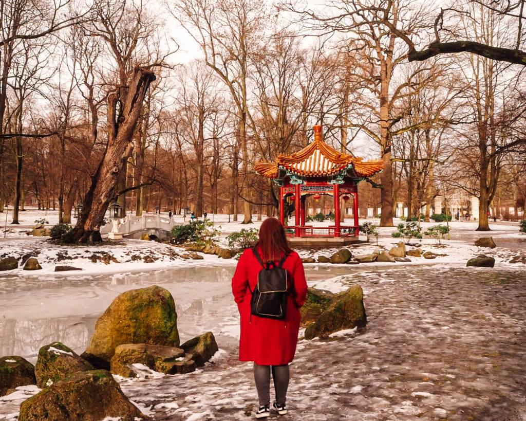 Chinese gardens in Warsaw Park