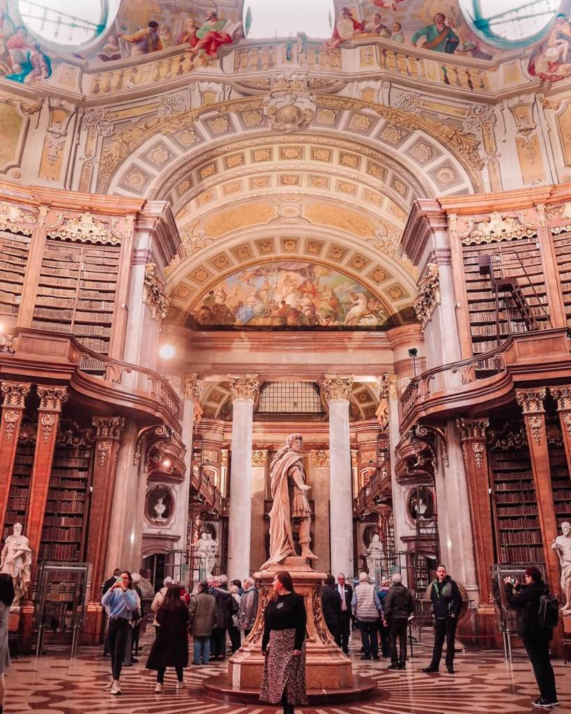 The Austrian National Library. One of the best things to do in Austria. Read more on www.allaboutrosalilla.com
