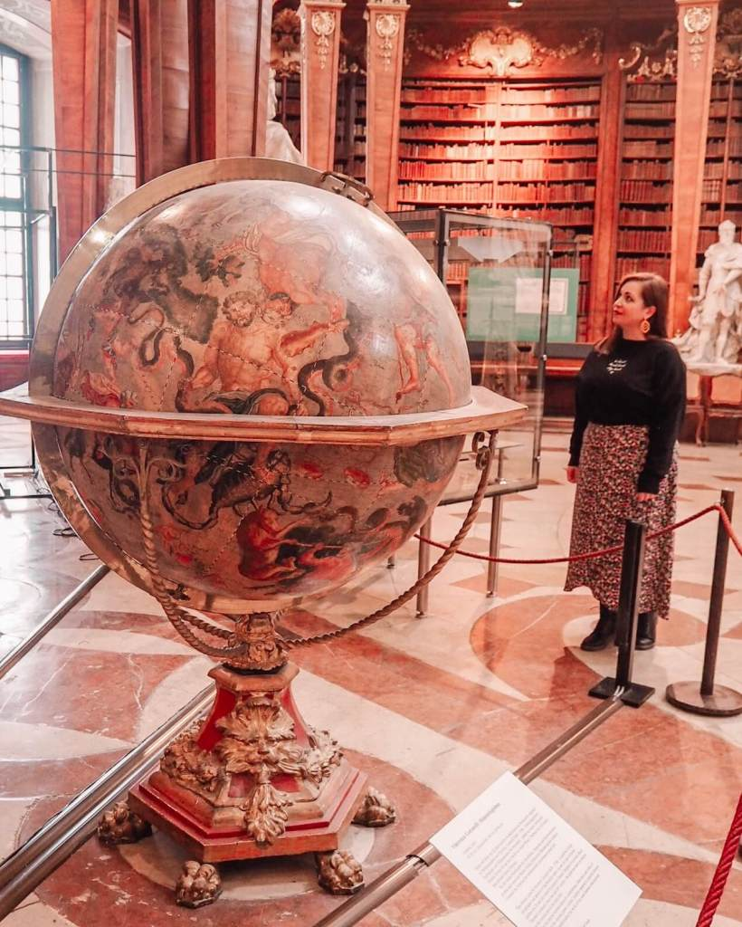 Globe at Austrian National Library