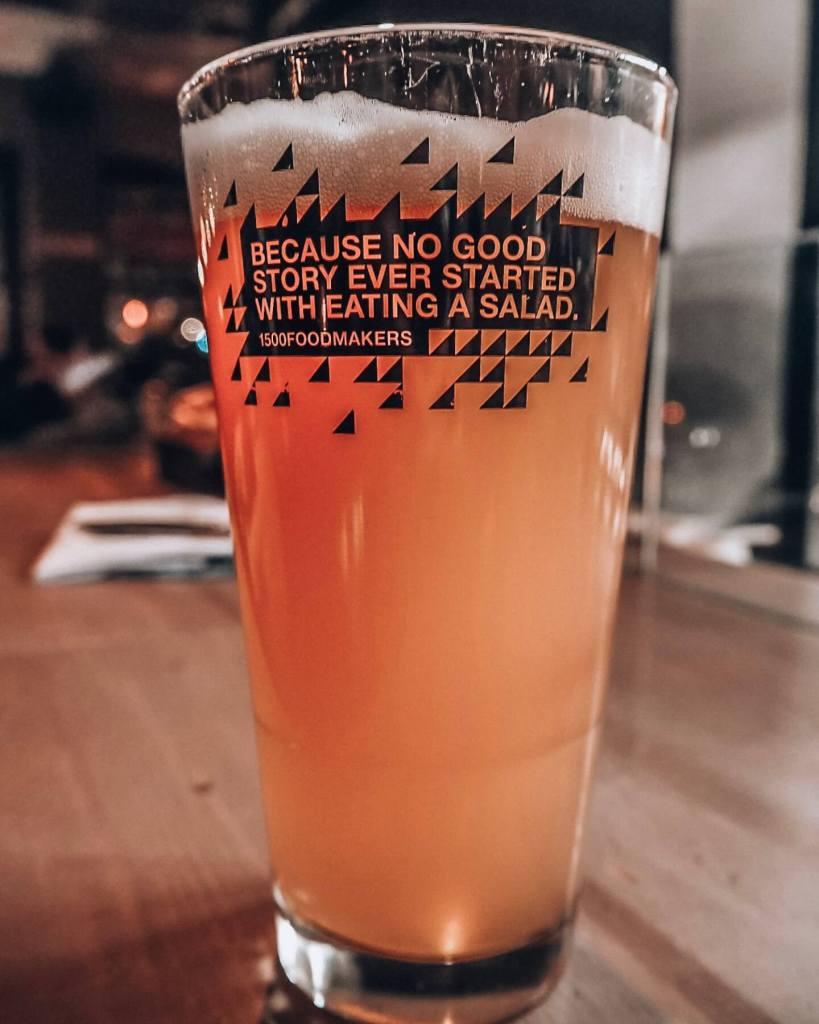 Fun beer glass