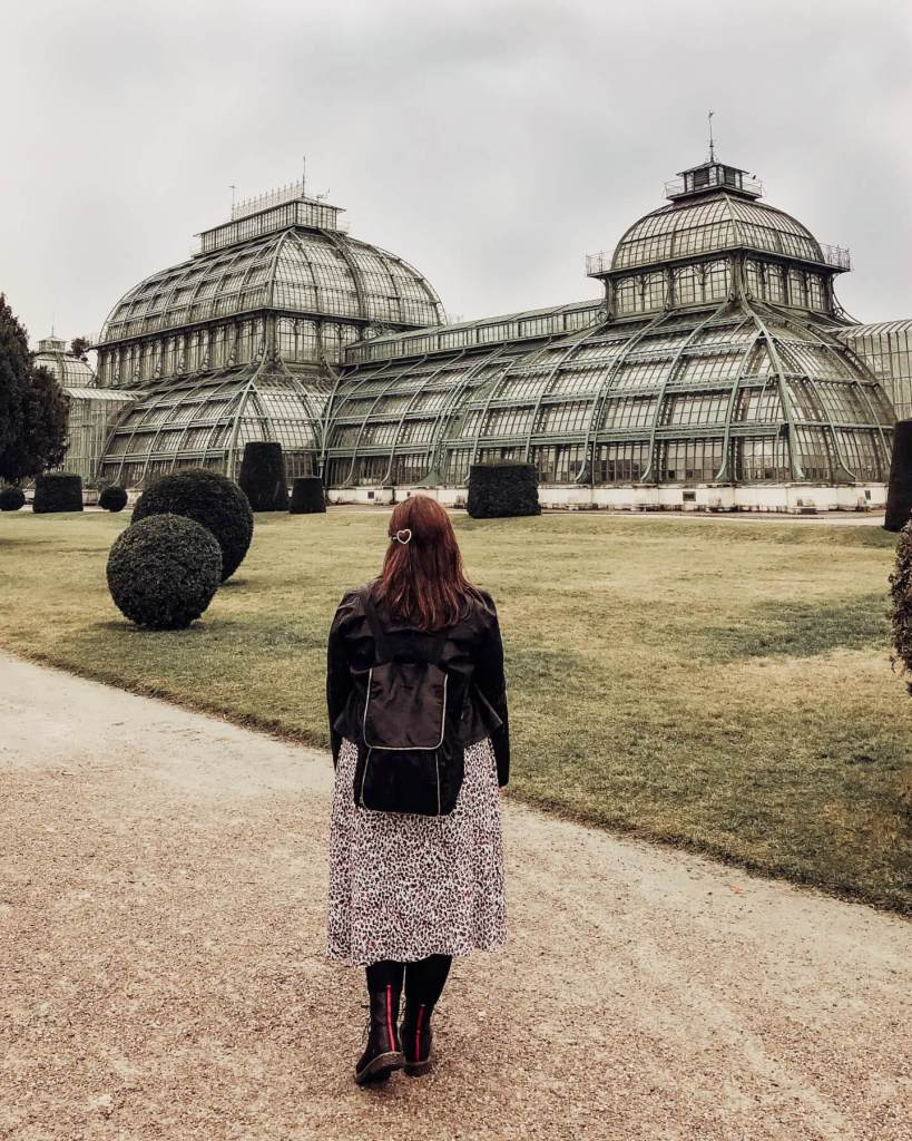 The beautiful Palmenhaus at Schonbrunn Palace