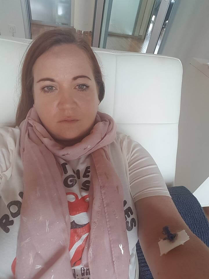 girl sick with lyme disease