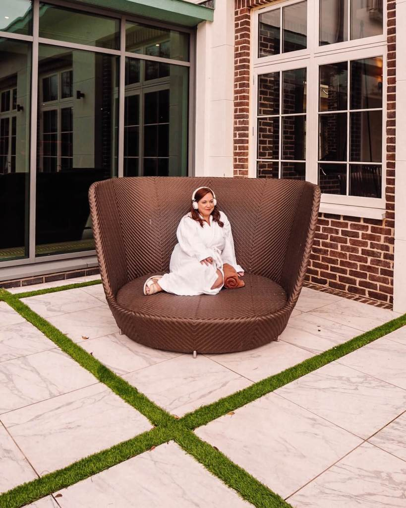 girl relaxing at a health spa