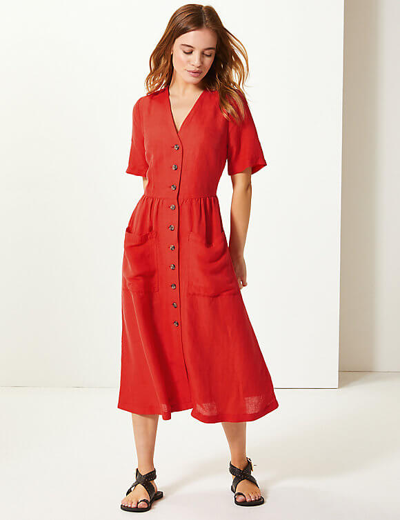 Pocket waisted Midi dress