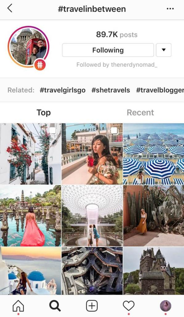 The best travel hashtags to use for Instagram.