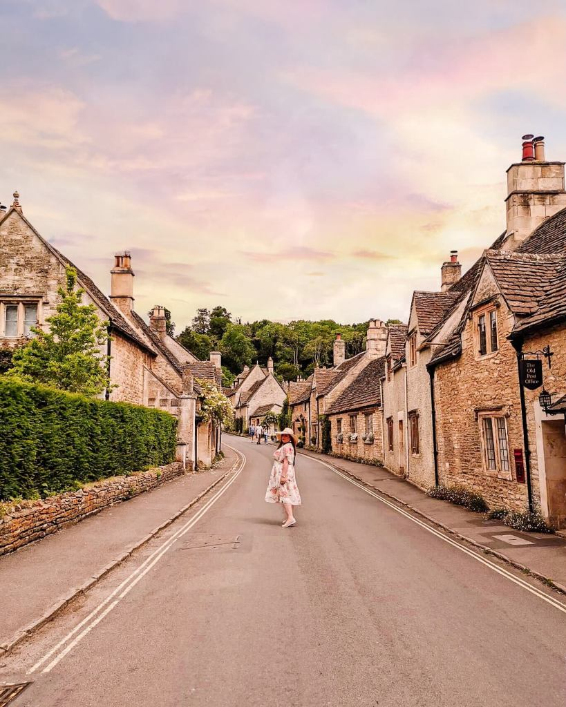 Castle Combe village in the cotswolds