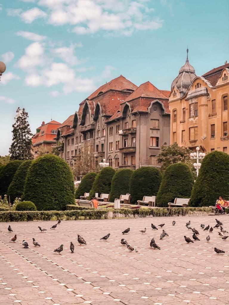 Baroque buildings in Romania. Read more on www.allaboutrosalilla.com