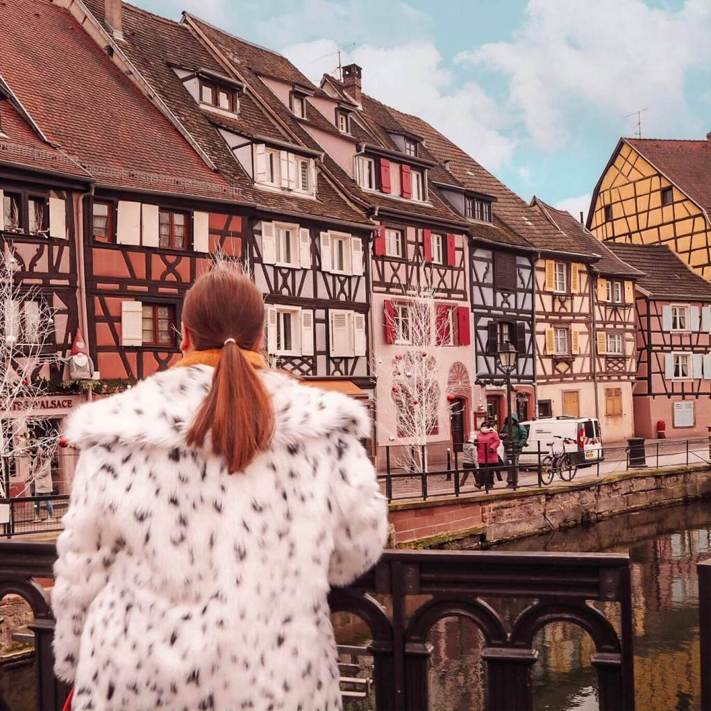 Pretty colourful buildings and canals in Little Venice Colmar.