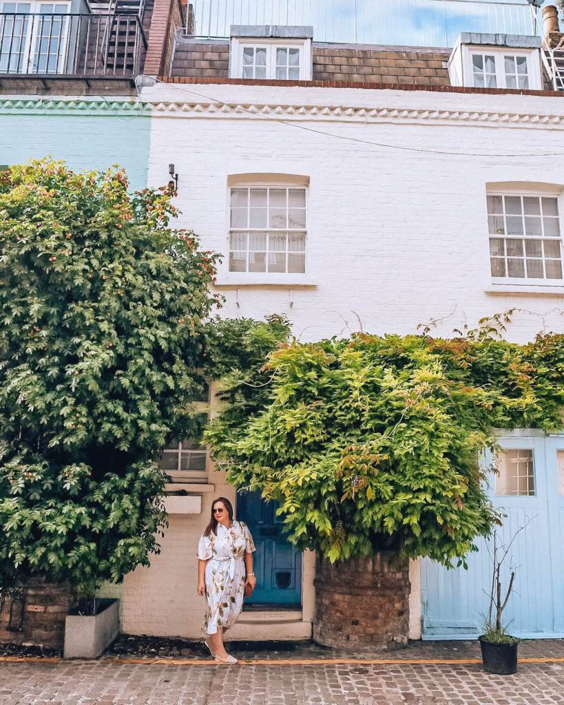 The beautiful St Lukes Mews in Notting Hill London.