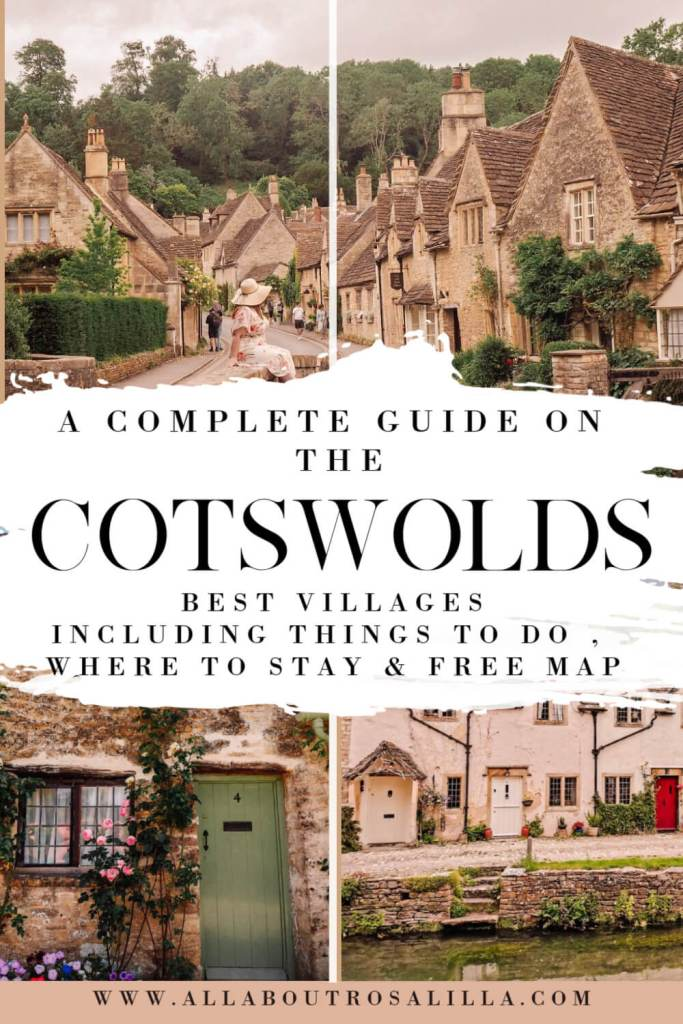 Image of Cotswolds Villages with Text Overlay