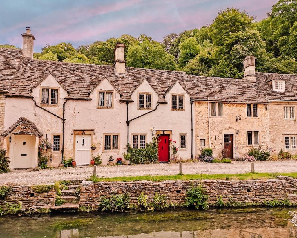 A row of English country cottages in Castle Combe one of Cotswolds best villages