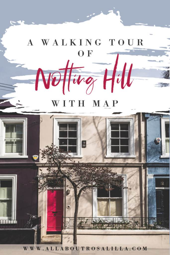 Houses in Notting Hill London with text overlay