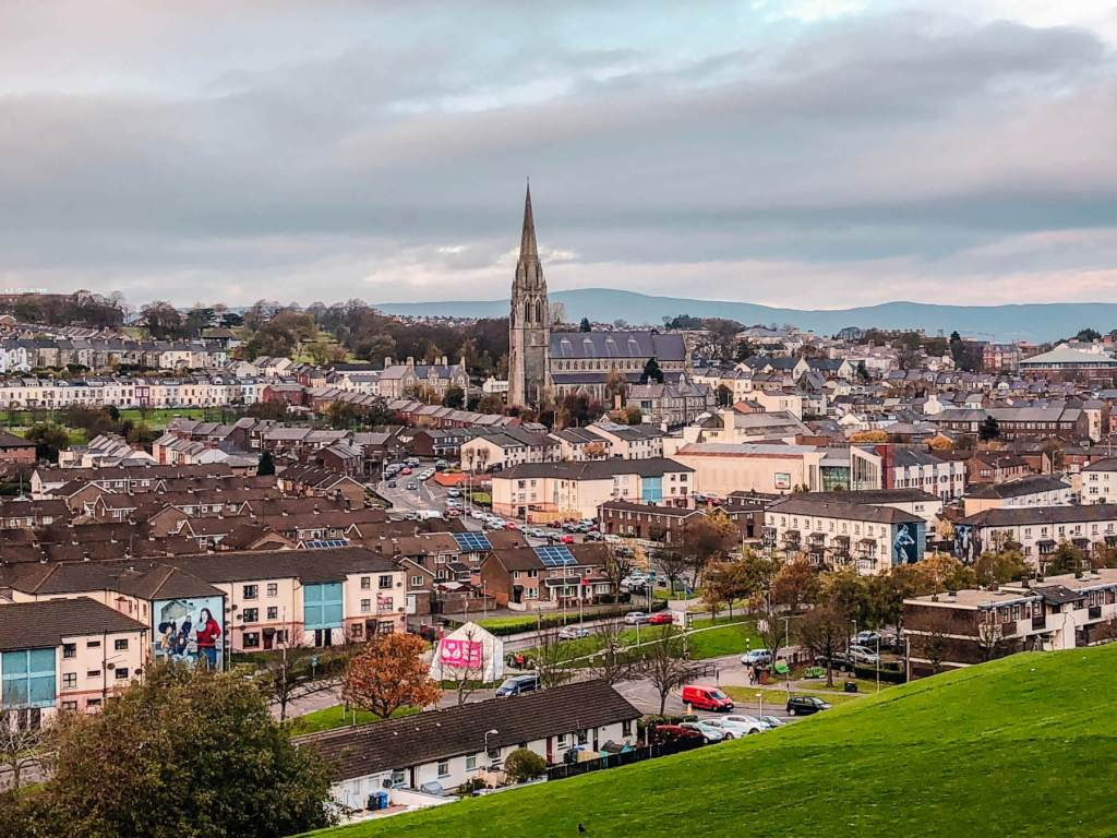 A view of Derry one of the best northern Ireland cities