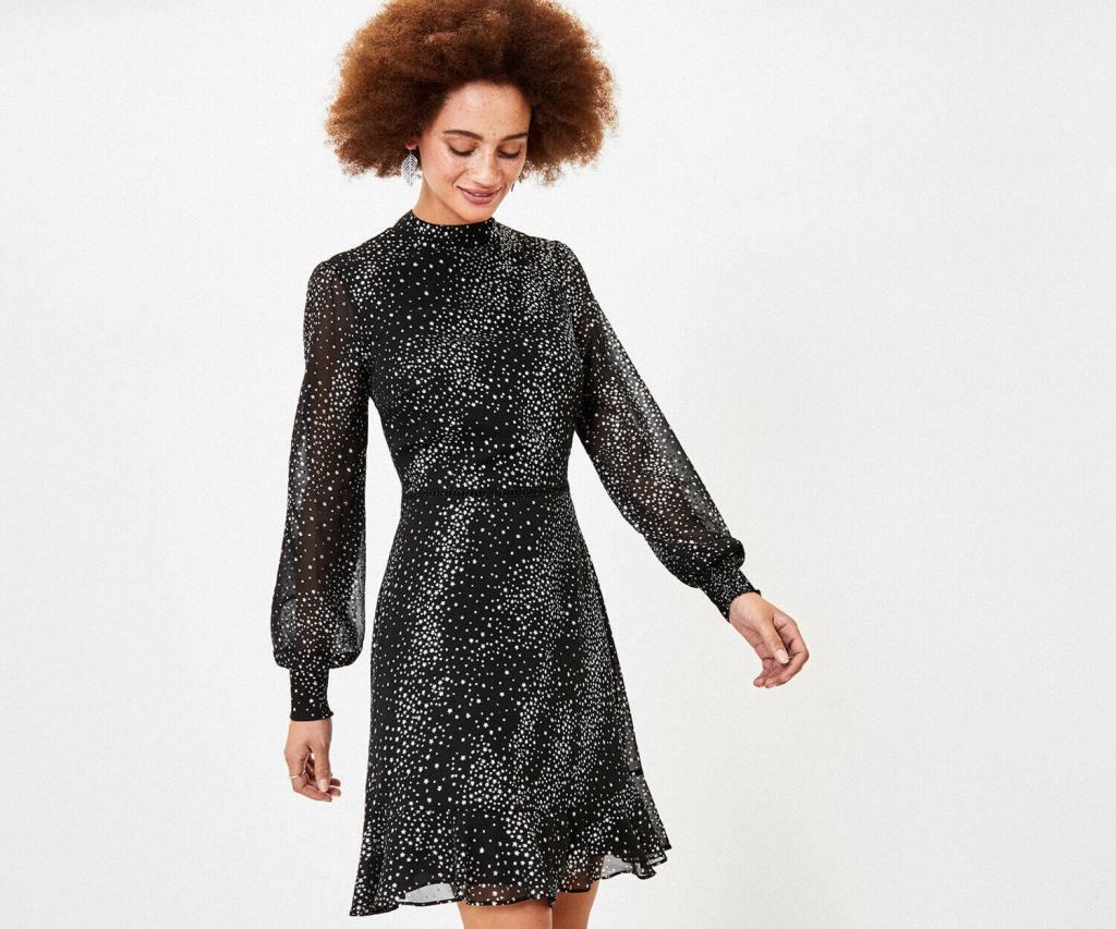 Oasis Glitter Star Skater Dress