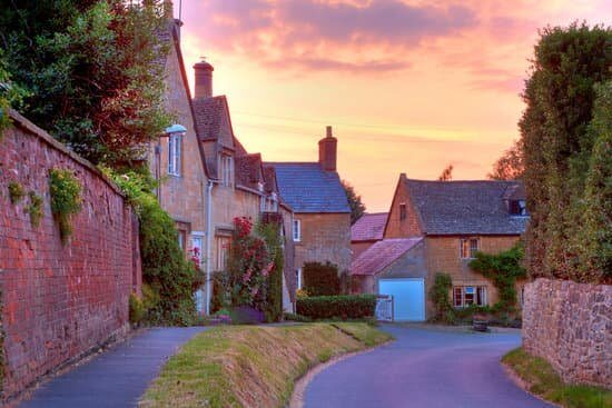 Stone cottages in The Cotswolds, England