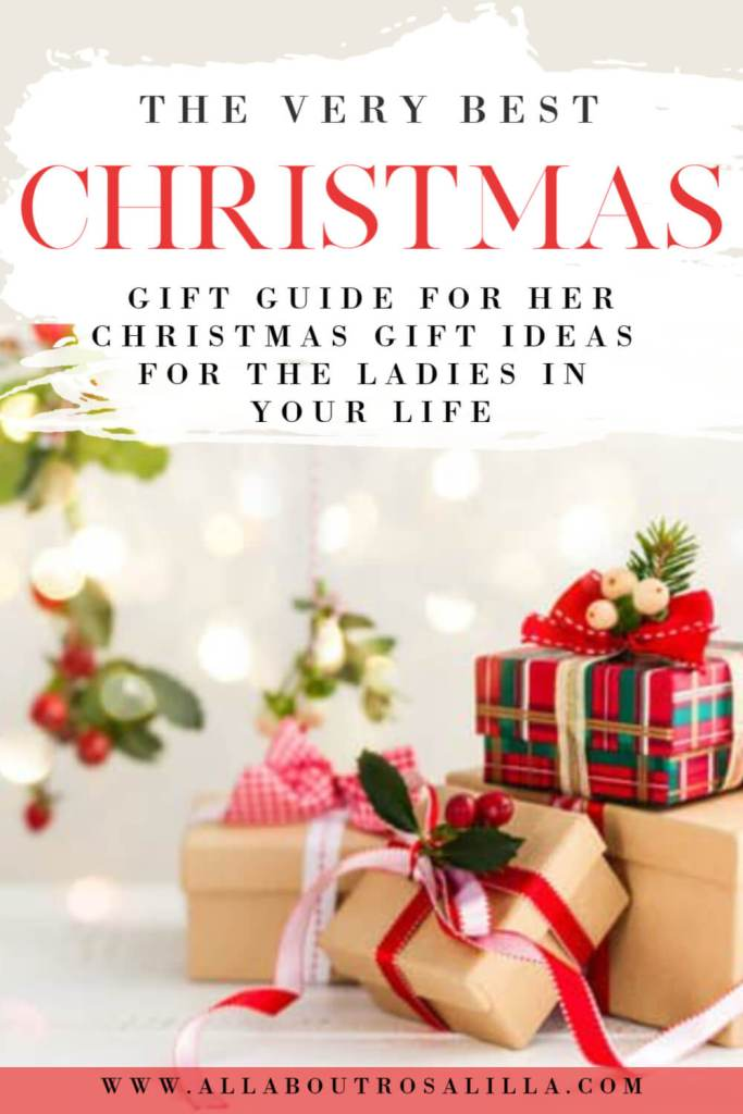 Christmas gift ideas for her. Whether you are shopping for your mum, sister, best friend or girlfriend I have you covered with the ultimate Christmas gift guide for the ladies in your life #christmasgiftsforher #christmasgiftideasforwomen #holidaygiftideasforher #giftguideforher