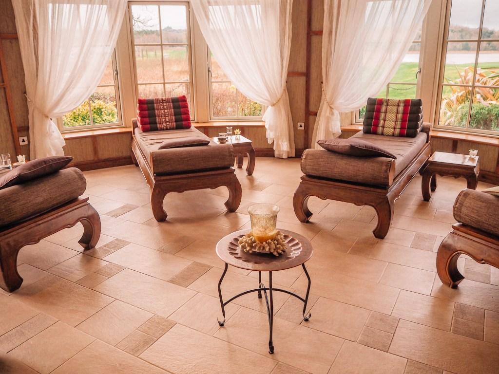 Sabai Sabai relaxation room at the Thai Spa in Lough Erne