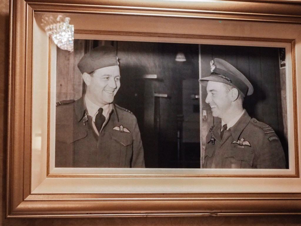 Old photograph of two pilots of American seaplanes in Ireland during World War II.