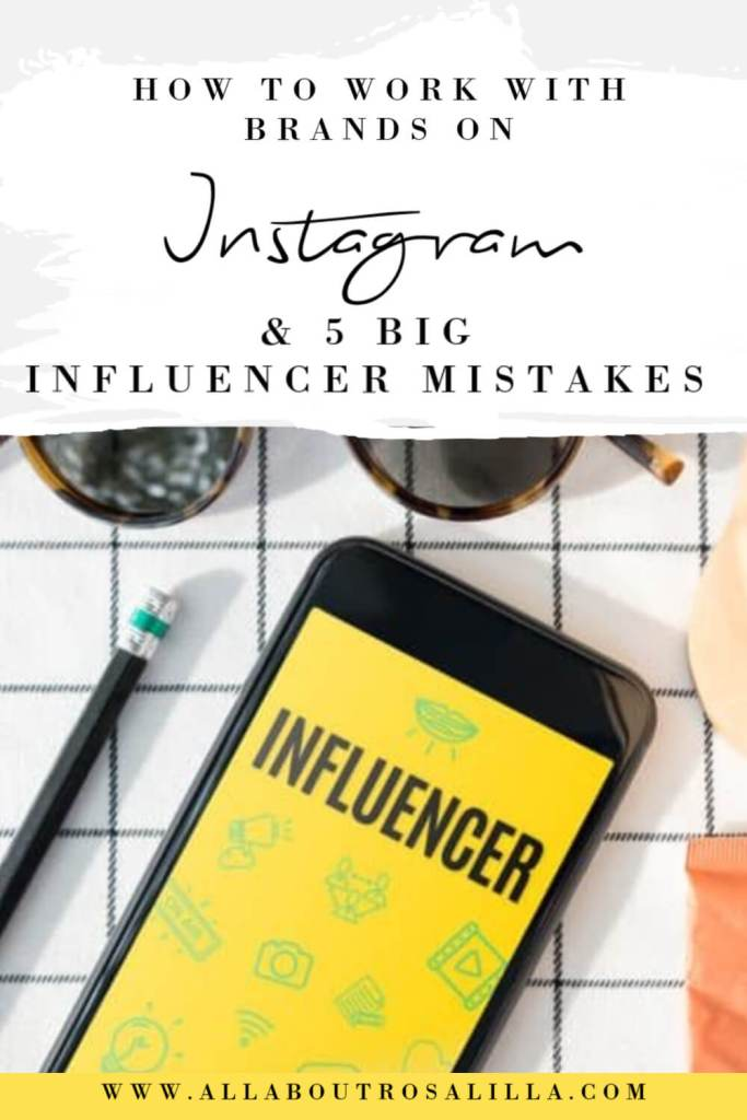 Image with text overlay brand collaborations instagram and 5 big influencer mistakes