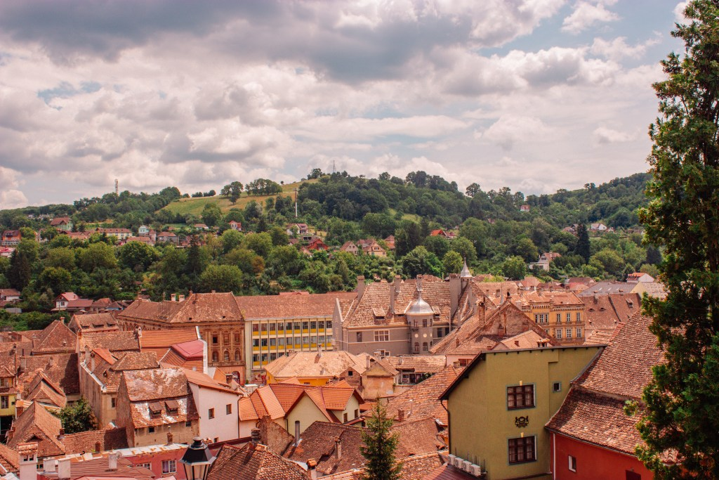 One of the many things to do in Sighisoara is enjoy panoramic views of the city from the clock tower
