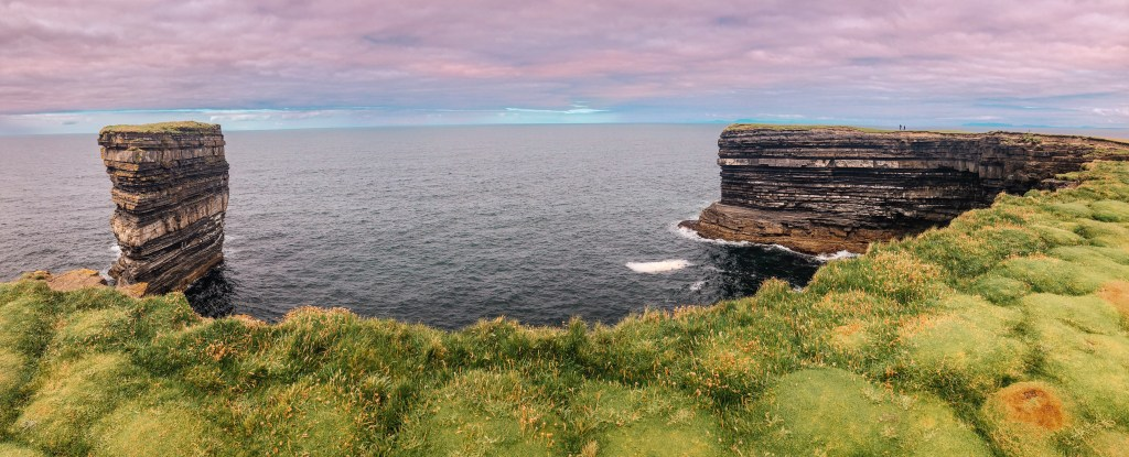 Rugged coastline at Downpatrick Head in County Mayo Ireland