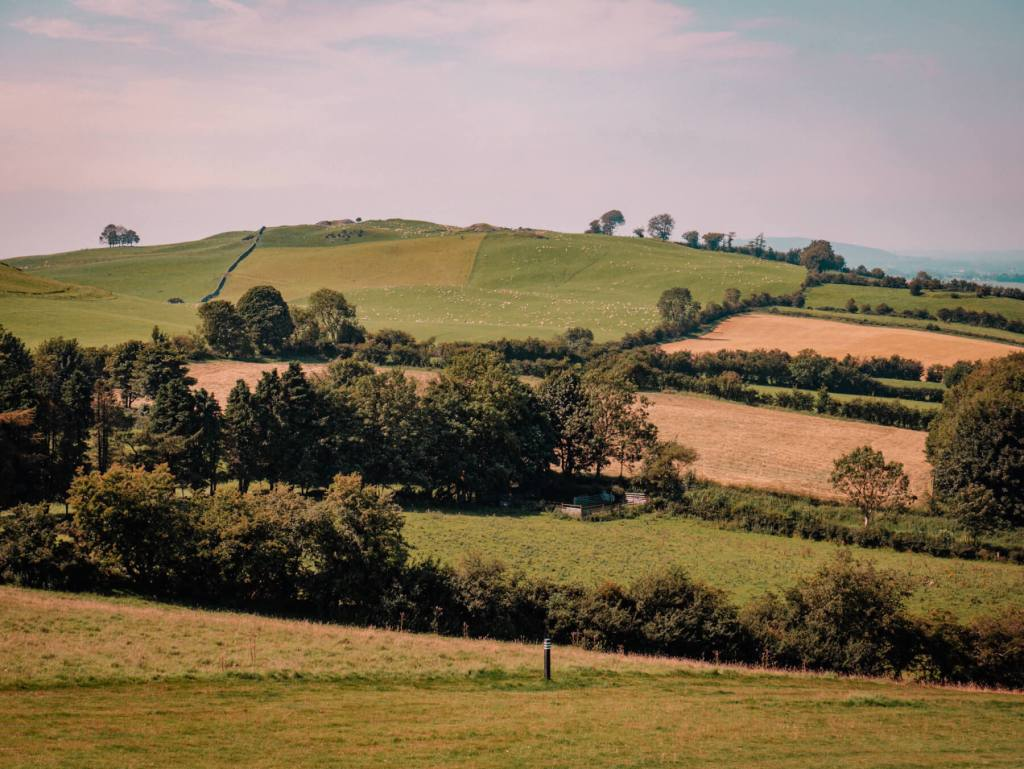 The rolling hills of County Meath in Ireland