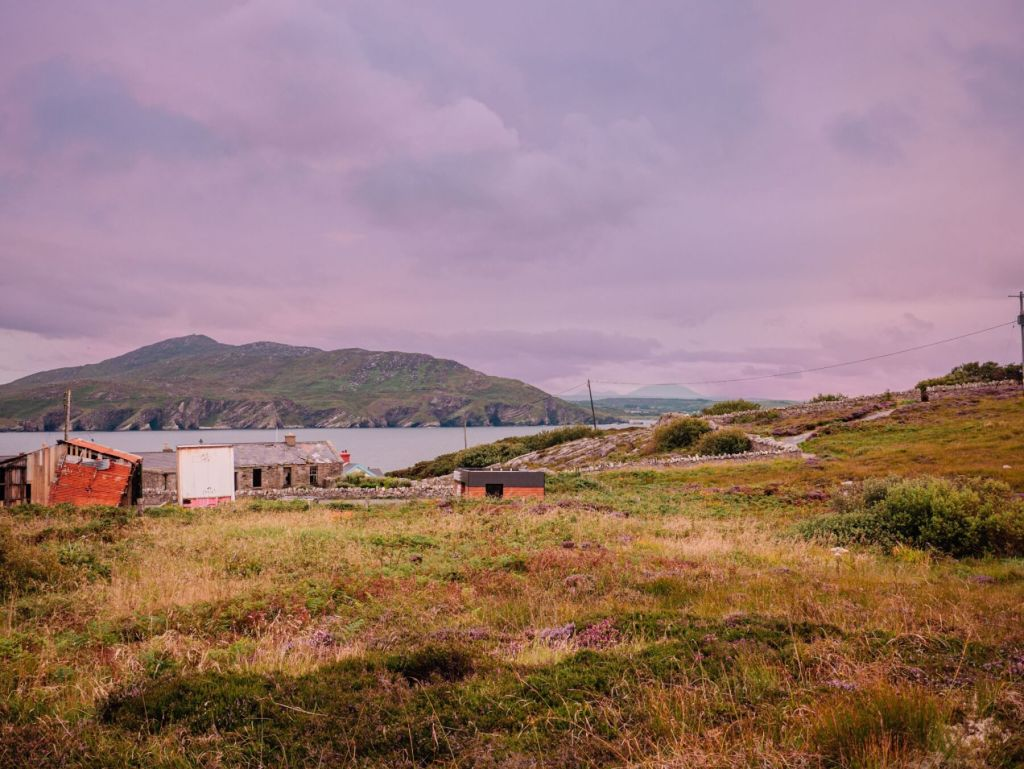Run down buildings at Fort Dunree Donegal, the perfect base for an Irish staycation