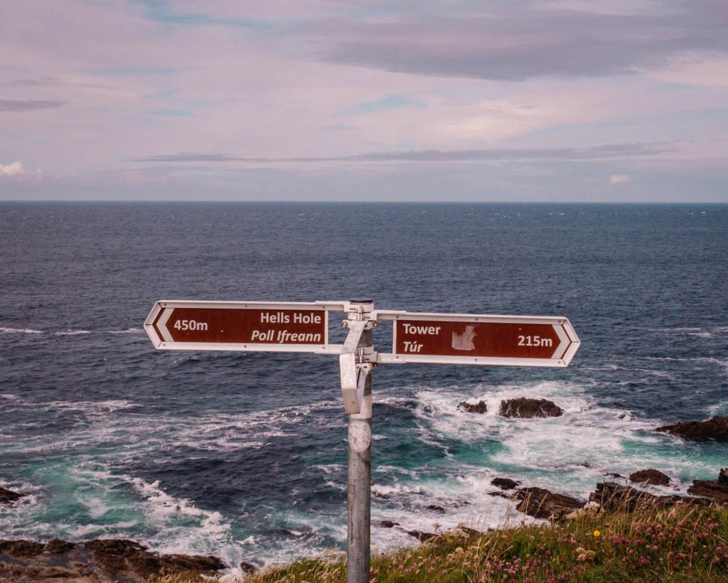 Signpost at Malin Head County Donegal