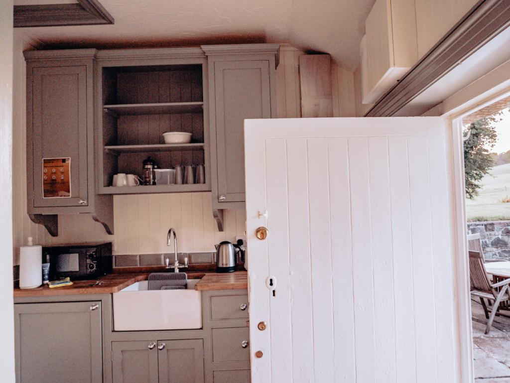 Country style kitchen at Loughcrew Lodge in County Meath Ireland