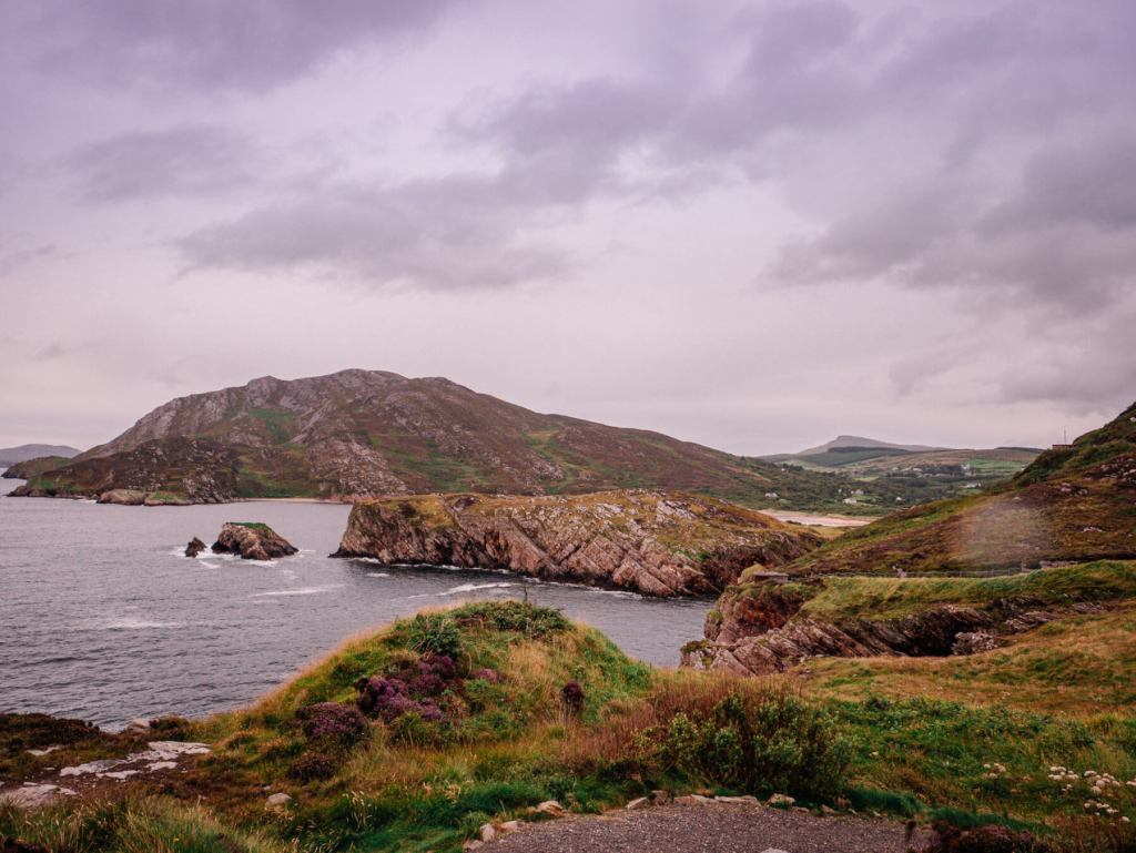 Dramatic views of the Donegal Coastline on the Inishowen peninsula on the Wild Atlantic Way