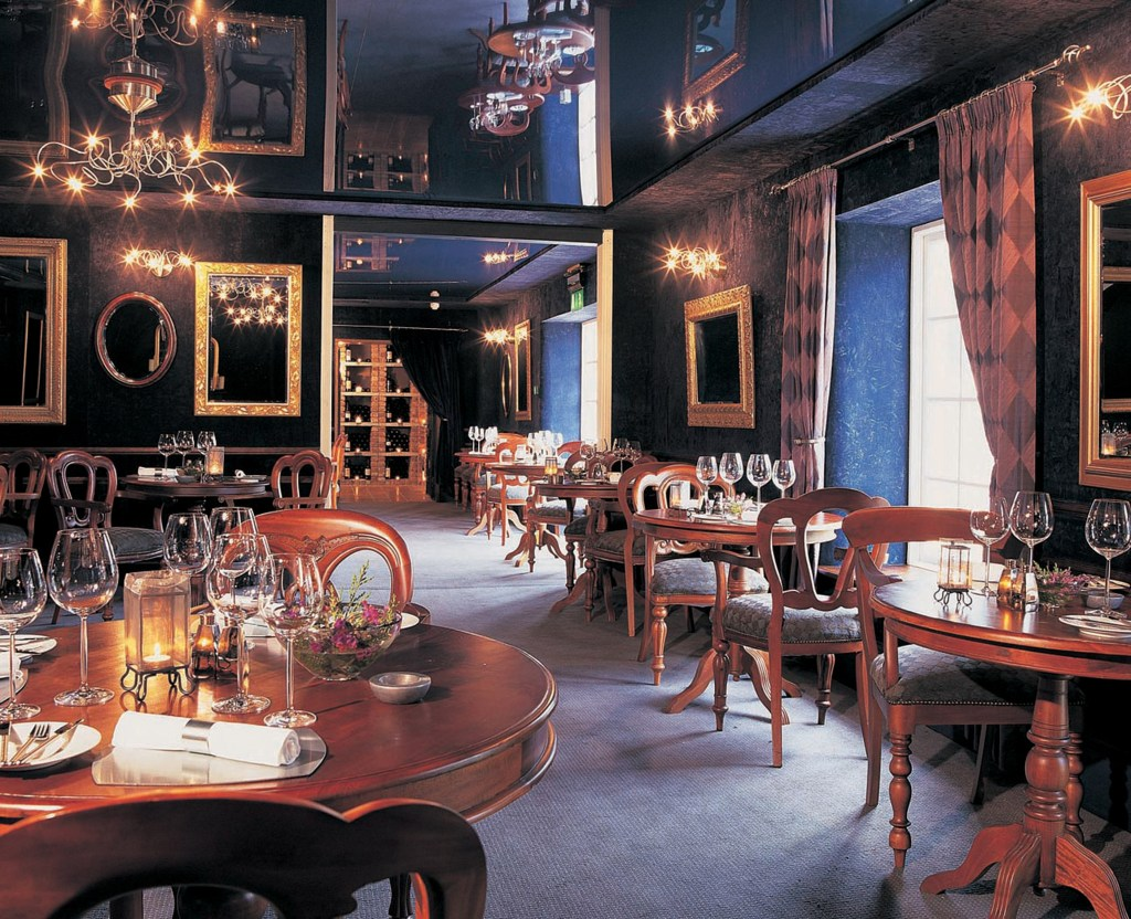 Interior of The Strawberry Tree restaurant one of the best restaurants in Ireland