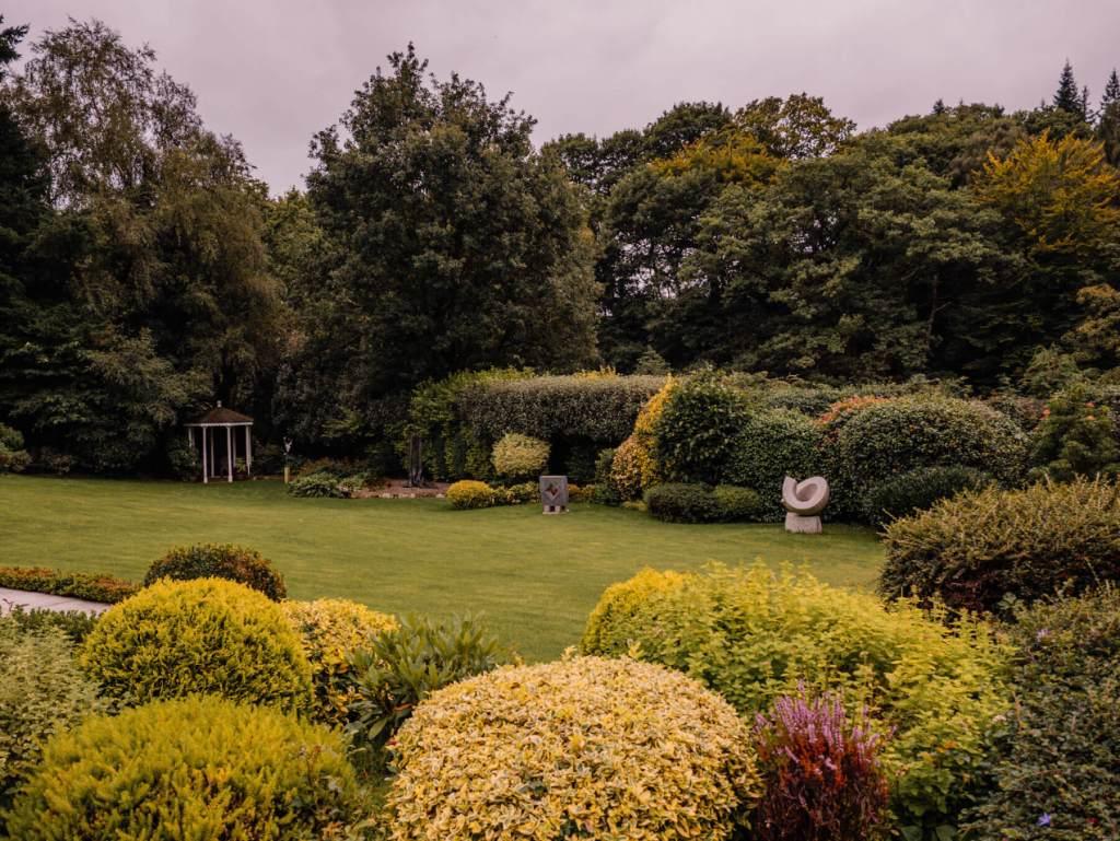 Beautiful gardens in bloom at Shekina Sculpture Gardens