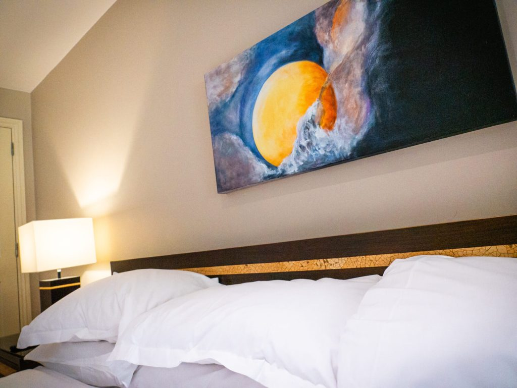 large double bed at Brooklodge hotel the perfect place to stay in wicklow ireland