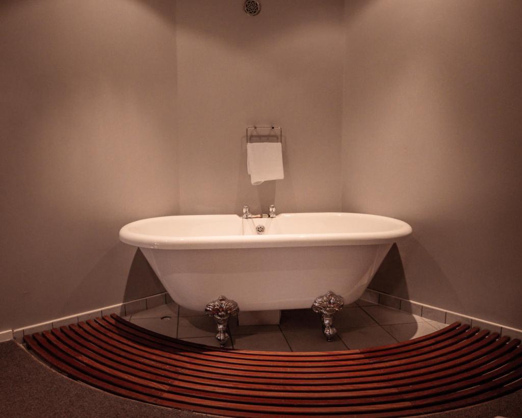 Standalone bath in the mezzanine suite at Brooklodge Wicklow Ireland