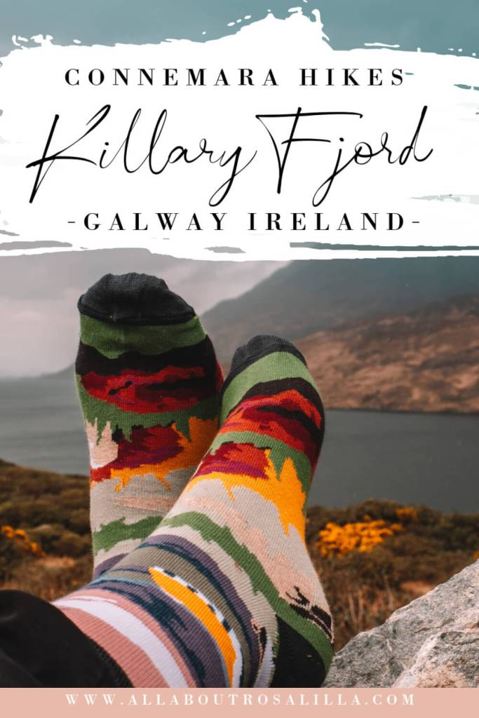 Image of Connemara Galway with text overlay Connemara Hikes Killary Fjord Galway Irelnad