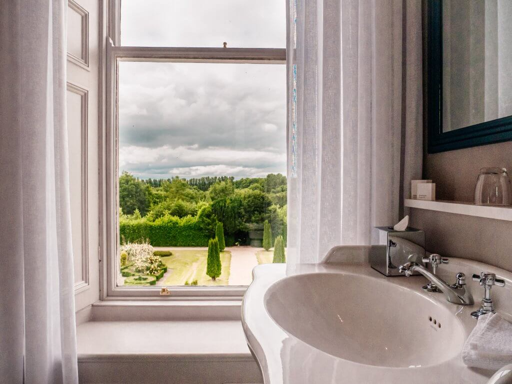Bathroom views from the Lyrath Estate the best place to spend a weekend in Kilkenny