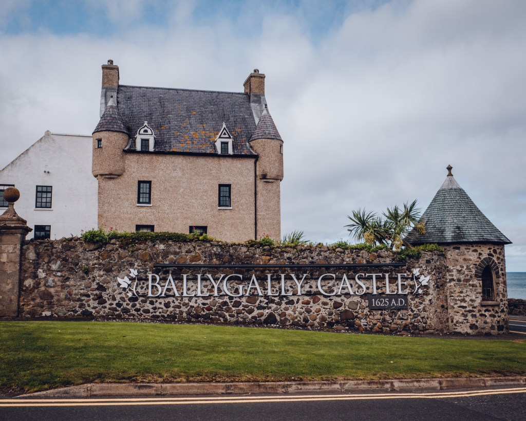Exterior of Ballygally Castle Hotel in Northern Ireland