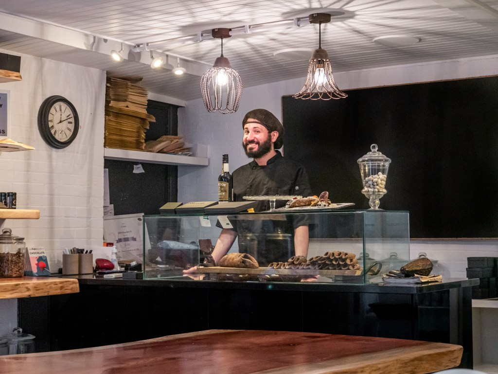 Giuseppe Pupino Chef of Co Cuture chocolate shop in Belfast city